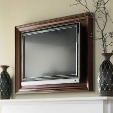Framed Tv Above Fireplace Tv Mounted On Wall In Picture Frame Bedroom Ideas Pinterest