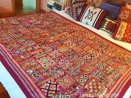 Indian art, tribal wall hangings, sari quilts & Large tribal Indian quilt Adamdwight.com