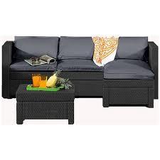 rattan garden corner sofa argos off 64