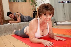 60 Plus MILFs Bea takes a yoga class Bea Cummins 50 Photos
