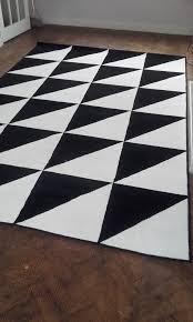 ikea sillerup very large black white rug