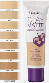 Rimmel Stay Matte Foundation Color Chart Rimmel Stay Matte Foundation This Makes My Skin Look