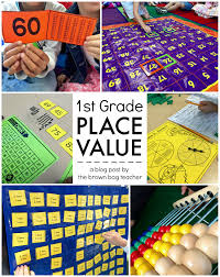 Place Value Chart For 1st Grade Place Value 1st Grade Centers The Brown Bag Teacher