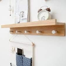wall hook rack floating shelf coat