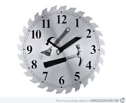 saw blade clock. saw blade workshop clock d