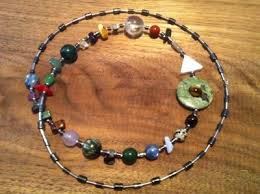 Custom Birth Chart Necklace Custom Natal Chart Necklace With Hematite Spacers Rhyolite
