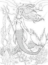 Your child will love coloring her own mermaid paper dolls with this fun printable. Mermaid Coloring Pages Coloring Rocks