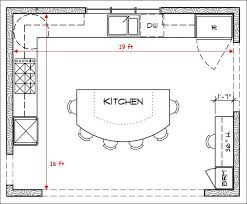u shaped kitchen with island floor plan kitchen floor plans brilliant kitchen floor plans with of