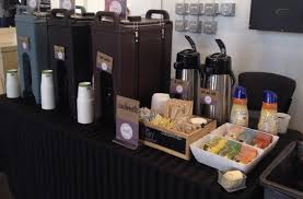 office coffee cart. Coffee Cart In Office With To Go Beverages 300x196 - On-The-Go .