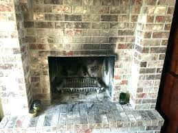 cleaning fireplace brick marvelous how