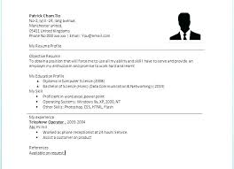 Template For Basic Resume Easy Resume Samples Sample Basic Template ...
