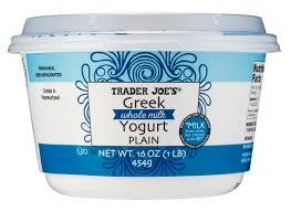 trader joe s plain whole milk greek yogurt