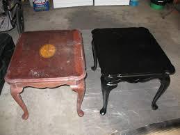 black painted furniturePainting Wood Furniture Black  Interiors Design
