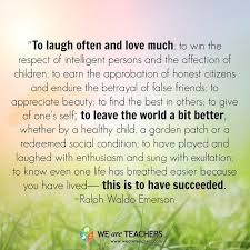 Image result for ralph waldo emerson quotes success to laugh often