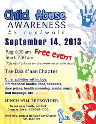 child abuse flyers shiprock navajo township child abuse awareness 5k run walk