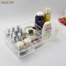 premium quality acrylic makeup organizer with drawers