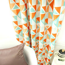 geometric orange curtains stunning orange patterned curtains and geometric patterned orange mint blackout curtain orange geometric geometric orange