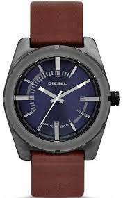 men s diesel good company brown leather strap watch dz1598