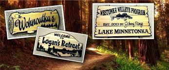 custom cedar outdoor wooden signs welcome your