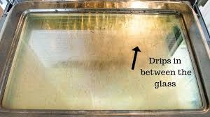 between the glass on your oven door