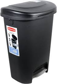 large trash can with lid.  Can Amazoncom Rubbermaid StepOn Wastebasket 13 Gallon  Black Home U0026  Kitchen On Large Trash Can With Lid