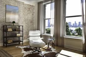 White Curtains In Living Room Simple White Curtains On The Small Windows Of Living Room With