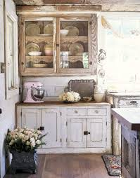 Individual cabinets in the kitchen