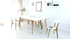 white and oak dining table set white oak kitchen chairs wooden chairs mid century modern dining