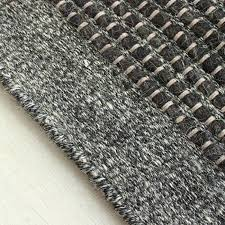 felted wool rug charcoal grey natural
