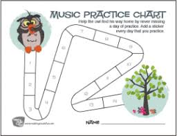 Free Printable Music Practice Charts Free Music Practice Sheets Bluebird Music Lessons