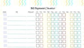 Payroll Calendar Template Stunning Bills To Pay Template Paid Bills Template Weekly Bill Payment