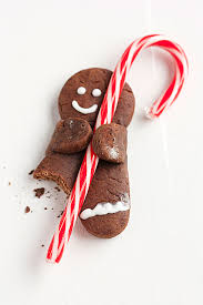 Holiday Recipe Chocolate Gingerbread Men With Candy Canes Gift