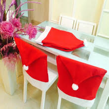 6pcs lot chair back cover decoracion navidad hat decorations for home dinner table