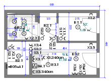 electrical wiring wiring layout plan for a domestic building
