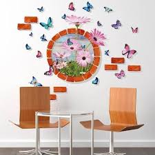3d erfly flower removable wall stickers home decor art wallpaper