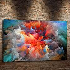 2018 abstract colorful clouds art 24x36inch modern abstract canvas oil painting print wall art decor for living room home decoration from eternal996