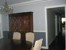Two Tone Grey Walls Trend Dining Room Gray Walls On The Same Two Tone  Concept In