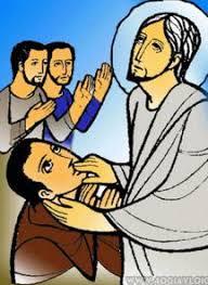 Kết quả hình ảnh cho hình ảnh Chúa chữa người câm điếc