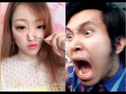 asian makeup vs no makeup reaction