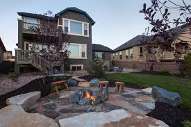 patio ideas with fire pit. Modren Pit Patio Fire Pit Dug Into The Ground Surrounded By Large Rocks To Ideas With Fire Pit D
