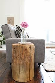 diy ombre stump side tables sugar cloth houston blogger home decor