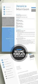 18 New Clean Cv / Resume Templates With Cover Letter – Mixed Sign