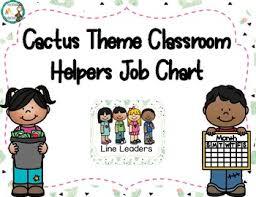 Helpers Chart Cactus Themed Classroom Helpers Chart