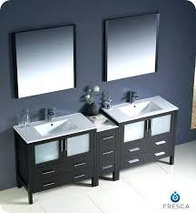 two sink vanity. 2 Sink Vanity Modern Double Bathroom W One Side Cabinet Two Sinks Espresso Size Ideas Full O
