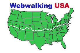 Walk Across America Chart Webwalking Usa Virtual Walking Log Program