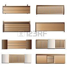 top design furniture. Outdoor Furniture , Bench Top View Set 6 For Landscape Design Vector Illustration I