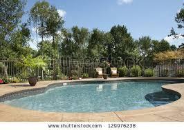 backyard salt water pool. Luxury Salt Water Pool And Patio In A Residential Backyard. Backyard