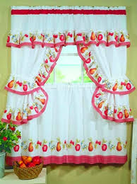 Yellow Gingham Kitchen Curtains Fruitopia Fruit Print Kitchen Curtain Red Gingham Check Kitchen