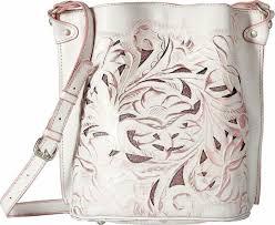 new nwt patricia nash lavello white pink toold leather sling purse handbag