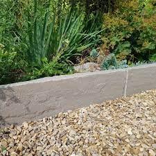 riven sandstone garden edging